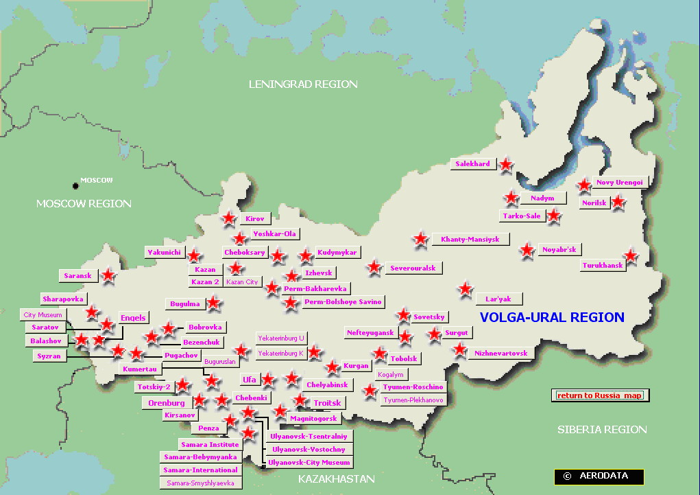 World Map of Volga-Ural (Russia) airfields - click to enlarge
